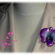 valódi orchidea virág kítűző