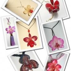 orchida virágból ékszerek