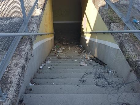 Így néz ki a lépcső (Fotó: Kozma Tamás)