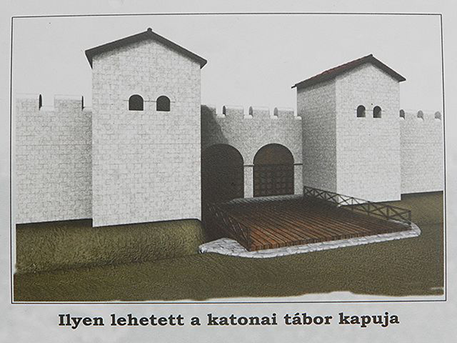 Campona, táborkapu rekonstrukció, wikimedia, pacilaci125