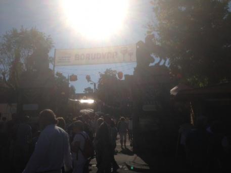 A fesztivál bejárata (fotó: ittlakunk.hu)