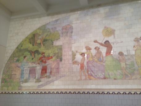Törleyt és nejét ábrázoló csempemű (fotó: ittlakunk.hu)