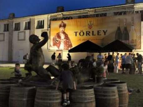 Esti hangulat a Törley udvarban
