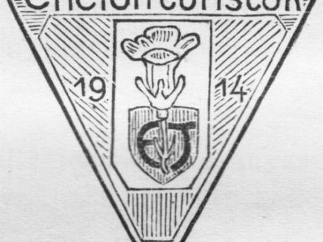 Az Encián Turisták címere (forrás: Encián Évkönyv – 1924-ből)