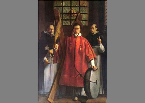 Szent Vincent, Ribalta egy tanítványának festményén