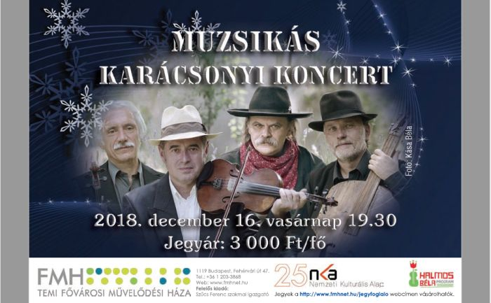 A Muzsikás Együttes karácsonyi koncertjének plakátja